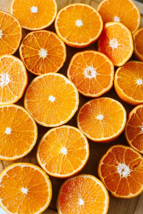 Bunch of Sliced Orange Fruits