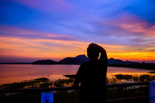 Free stock photo of asian boy, sunset, sunset color