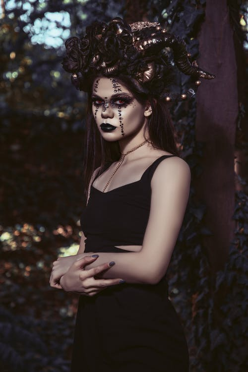Gothic lady in Halloween costume