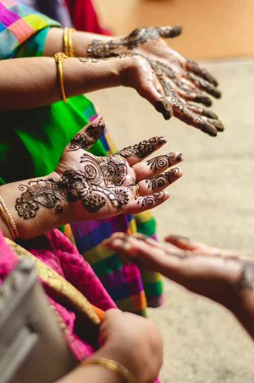 Free stock photo of colors in india, colour, henna tattoo, india