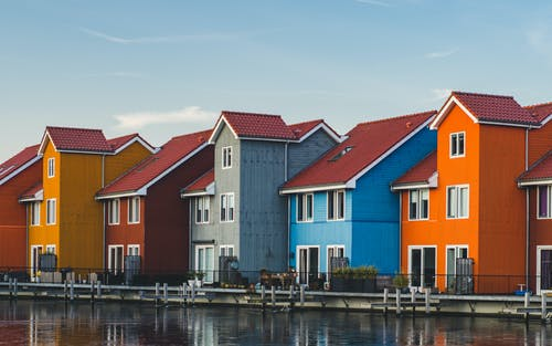 Free stock photo of colorful houses, colourful, houses