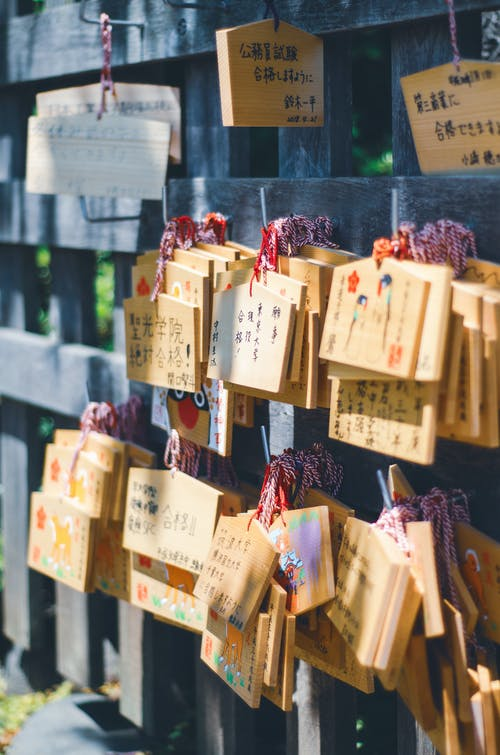 Free stock photo of japan, japanese culture, shrine, Wishes