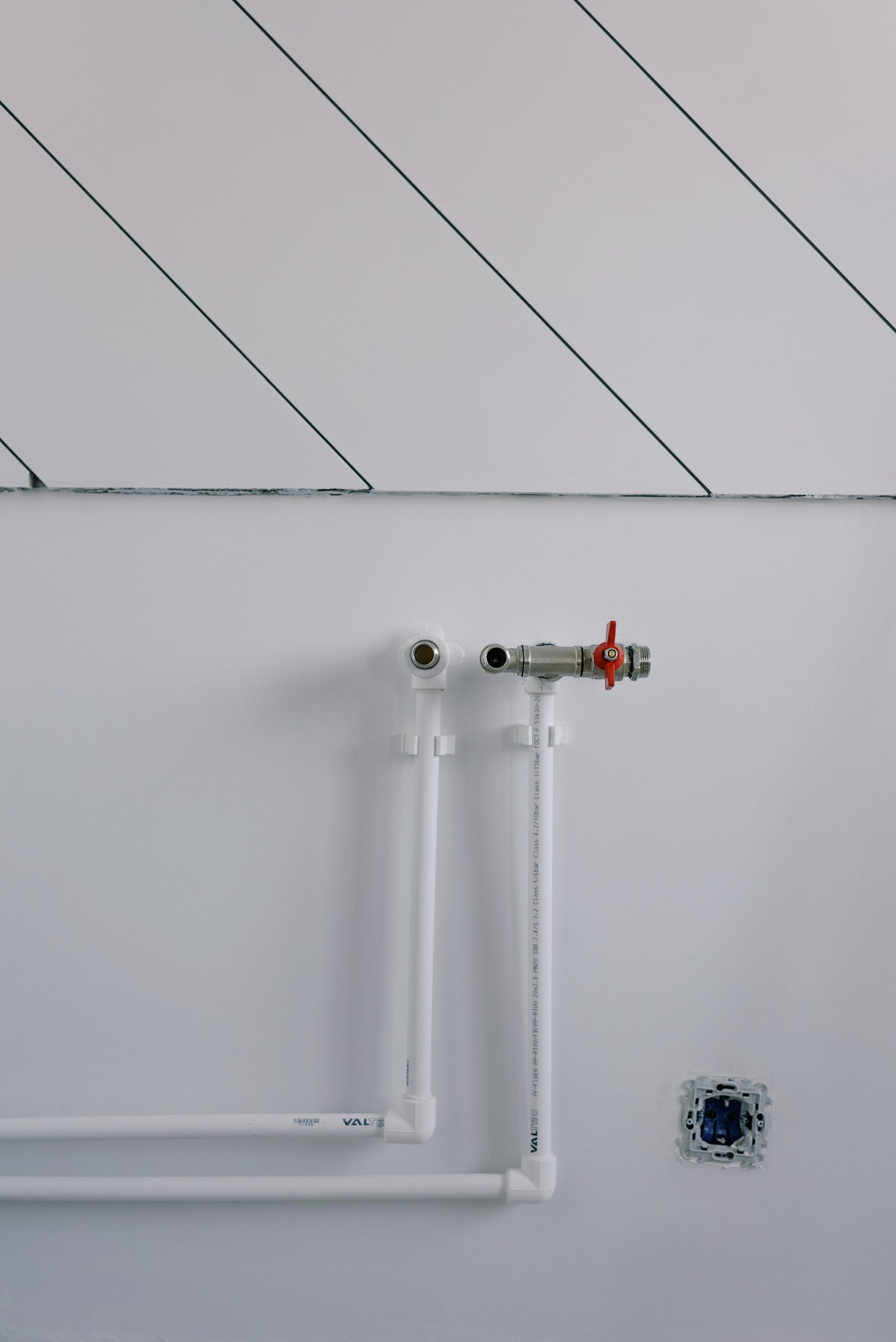 Pipes of radiator in empty room