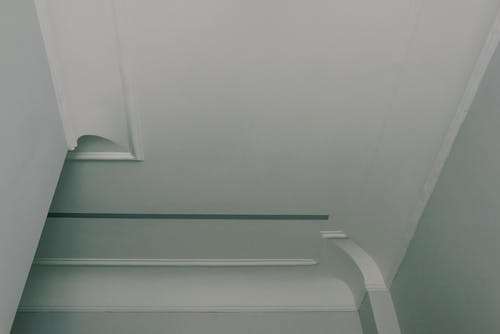 Interior of room with white ceiling