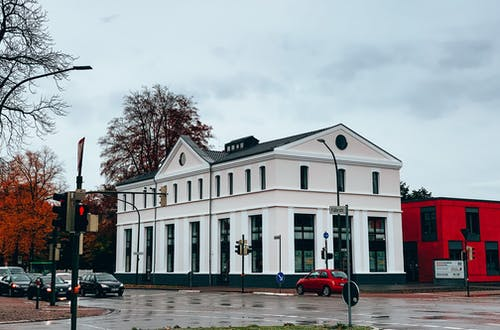 White Building From Street View