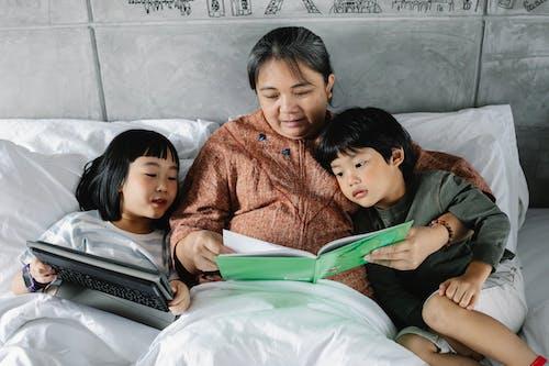 anneanne, asyalı çocuklar, asyalı insanlar, Asyalı kadın içeren Ücretsiz stok fotoğraf