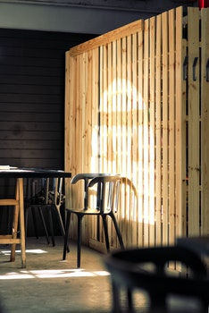 Shadow on wooden wall
