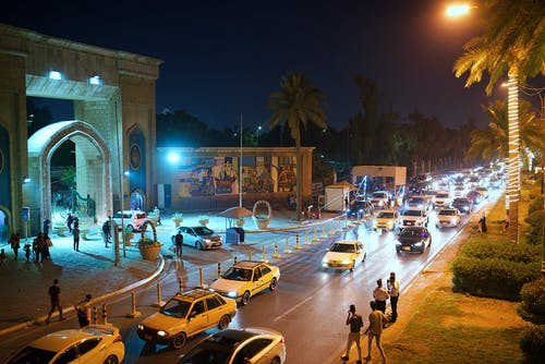 Free stock photo of baghdad, cars, city lights