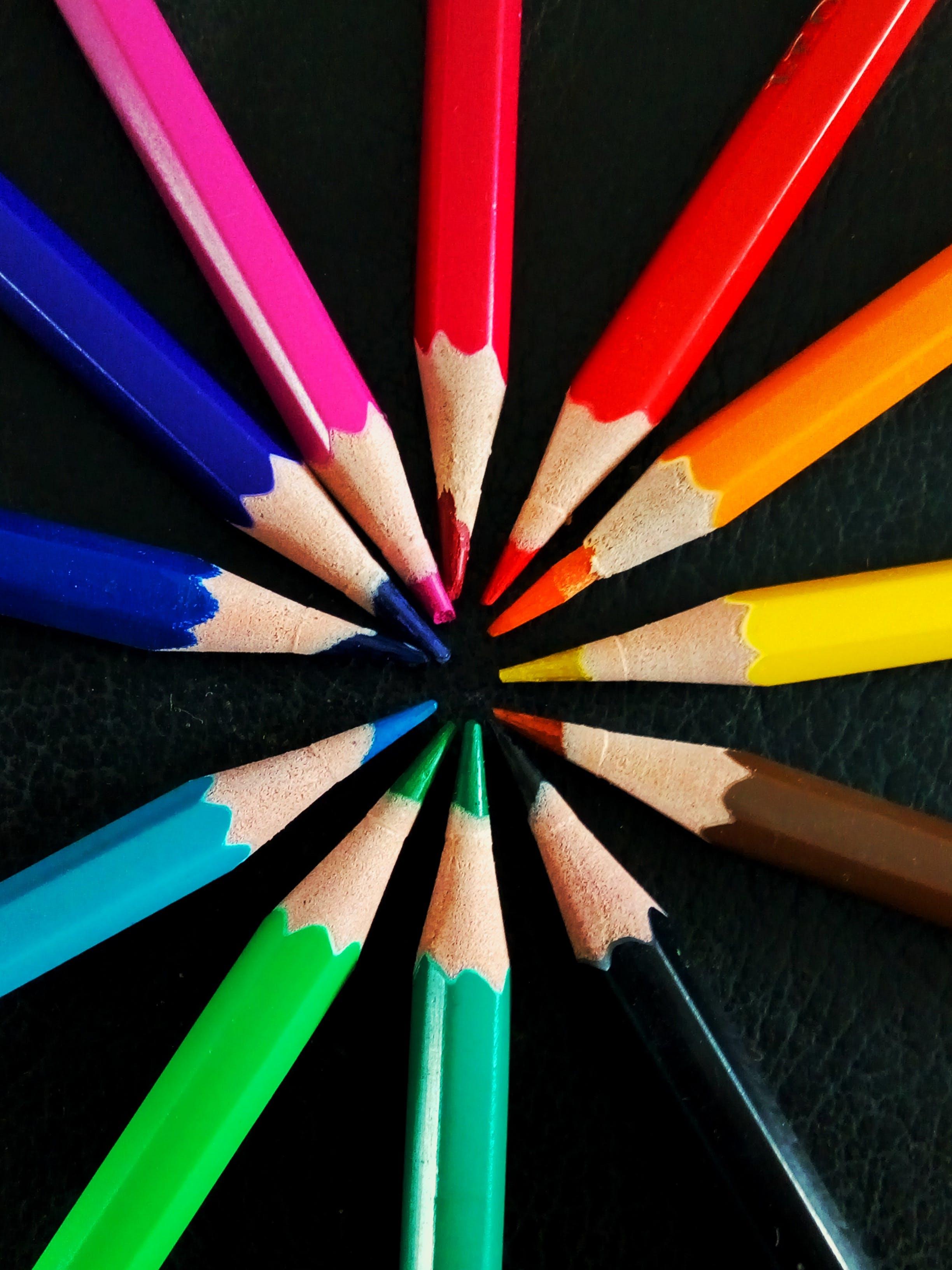 Free stock photo of color pencils, colors, pencils, wooden pencils