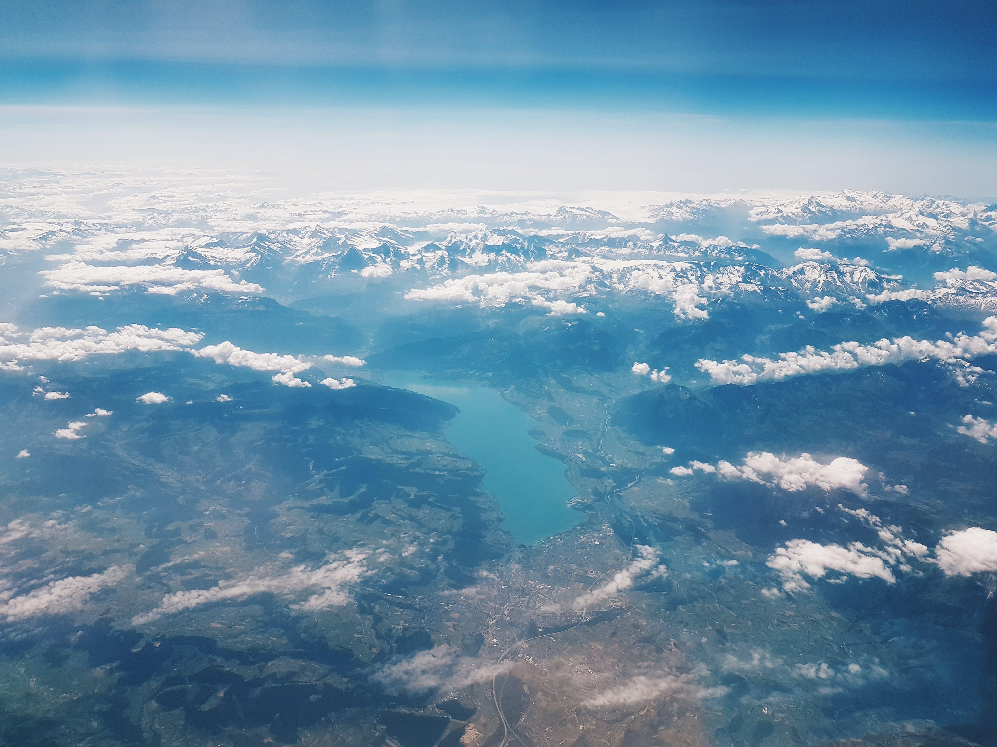 Aerial Photo of Land Mass