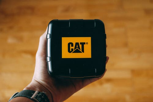 Person Holding Black Cat Case