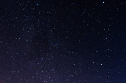 Starry sky in dark night