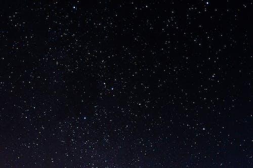 Glowing stars in wonderful sky at night