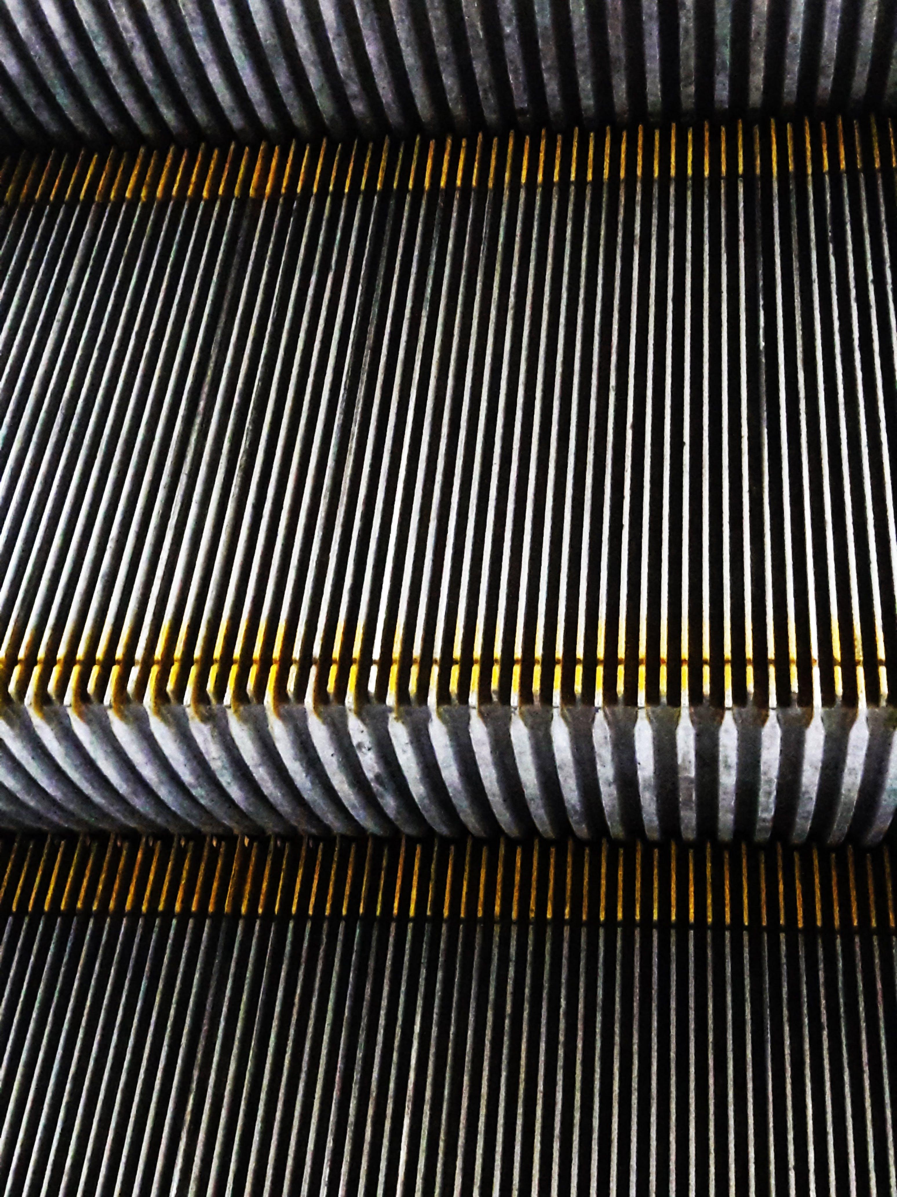 Free stock photo of escalator, industrial, metal surface, public transportation
