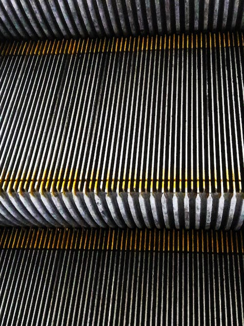 Free stock photo of escalator, industrial, metal surface