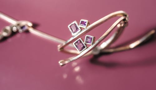 Thin ring with diamonds and pendant