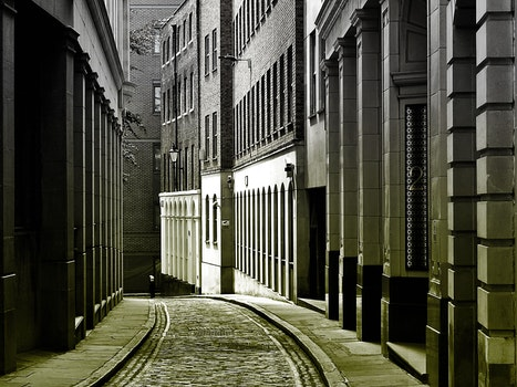 Free stock photo of street, building, architecture, alley
