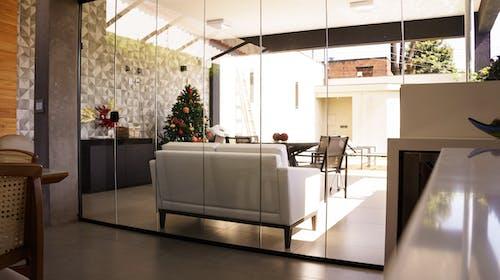 Stylish interior design of living room in modern flat