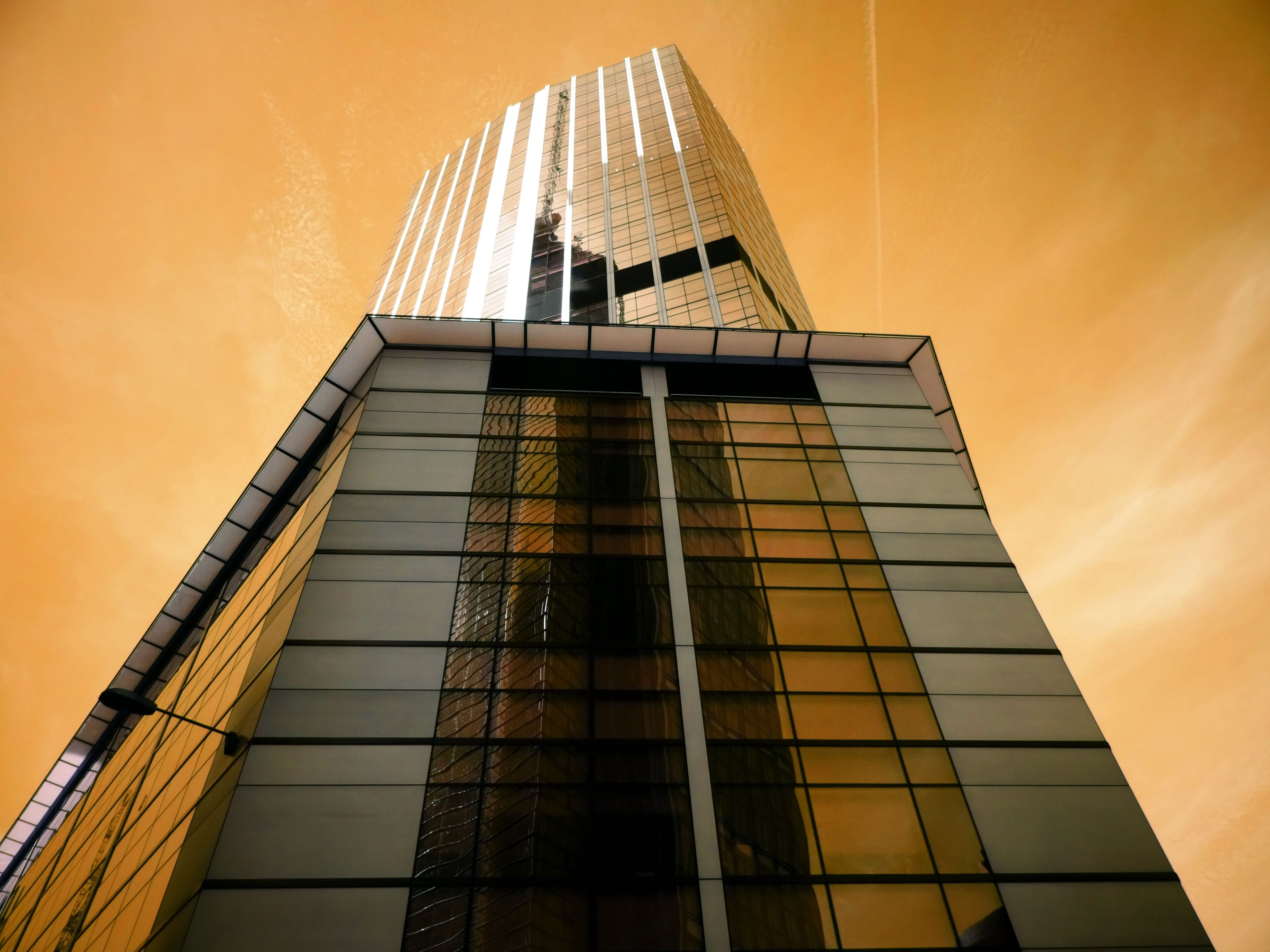 Low Angle Photography of Glass High-rise Building