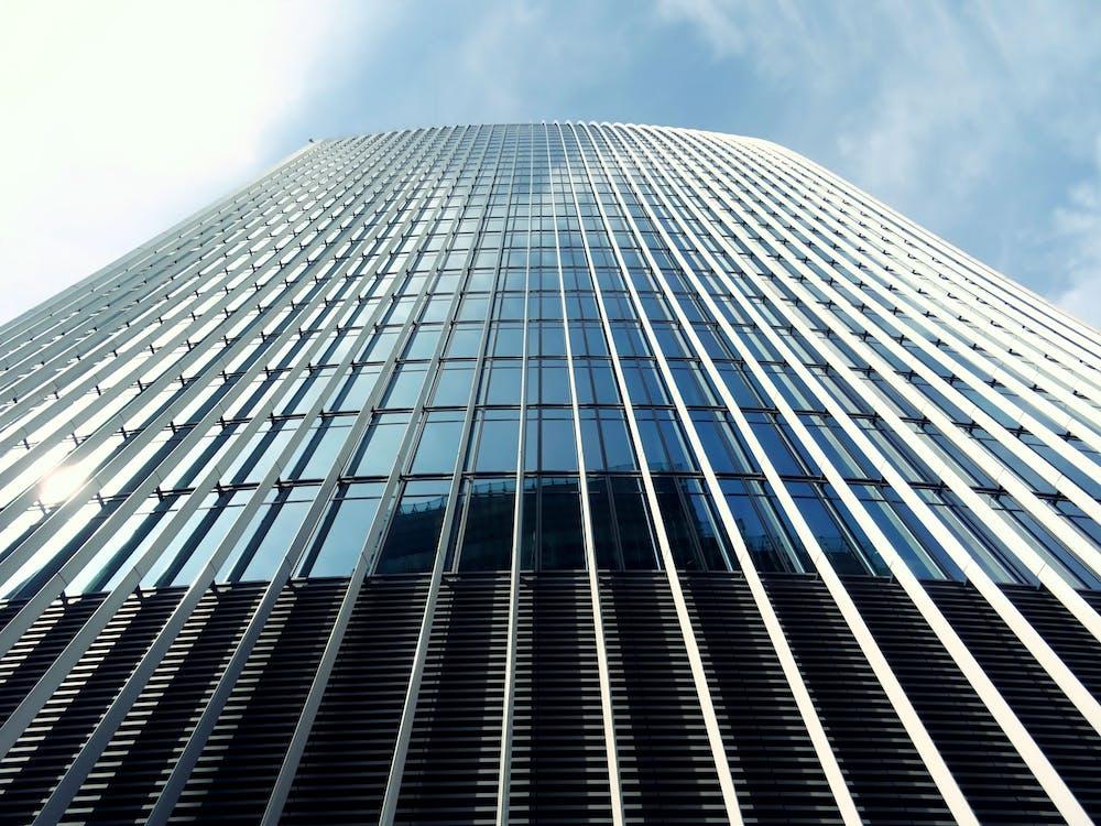 alacsony szögű felvétel, építészet, épület
