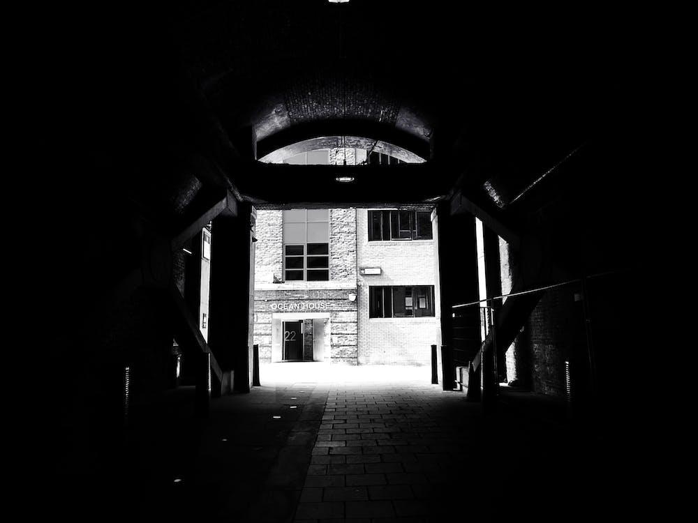 bangunan, bayangan, gedung