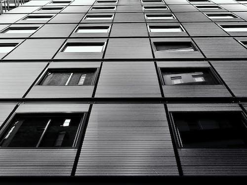 Foto d'estoc gratuïta de arquitectura, blanc i negre, edifici, edifici alt