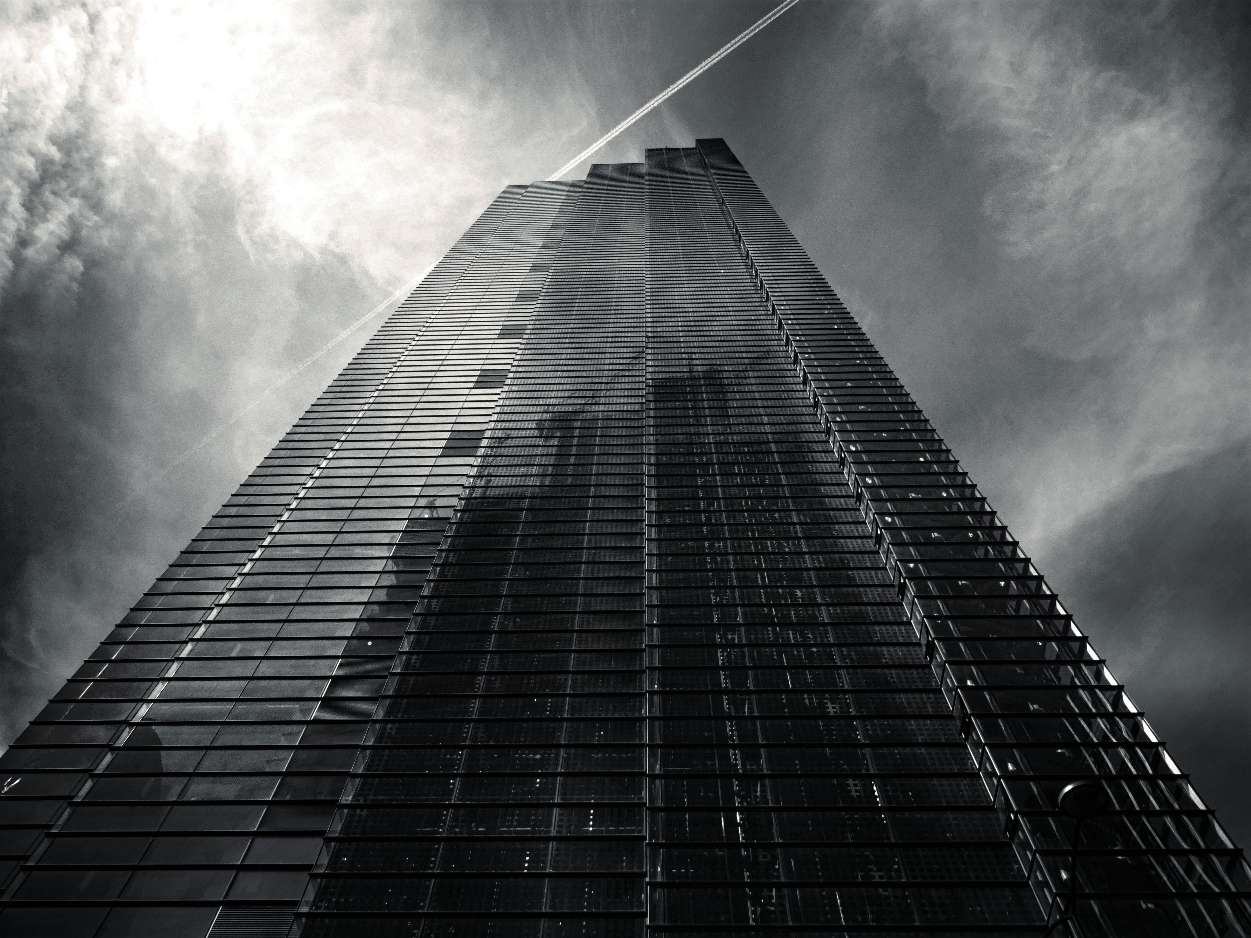 Grayscale Photography of Low-angle Building