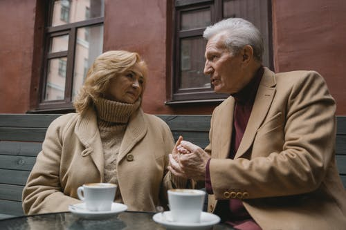 Photos gratuites de amour, couple de personnes âgées, date