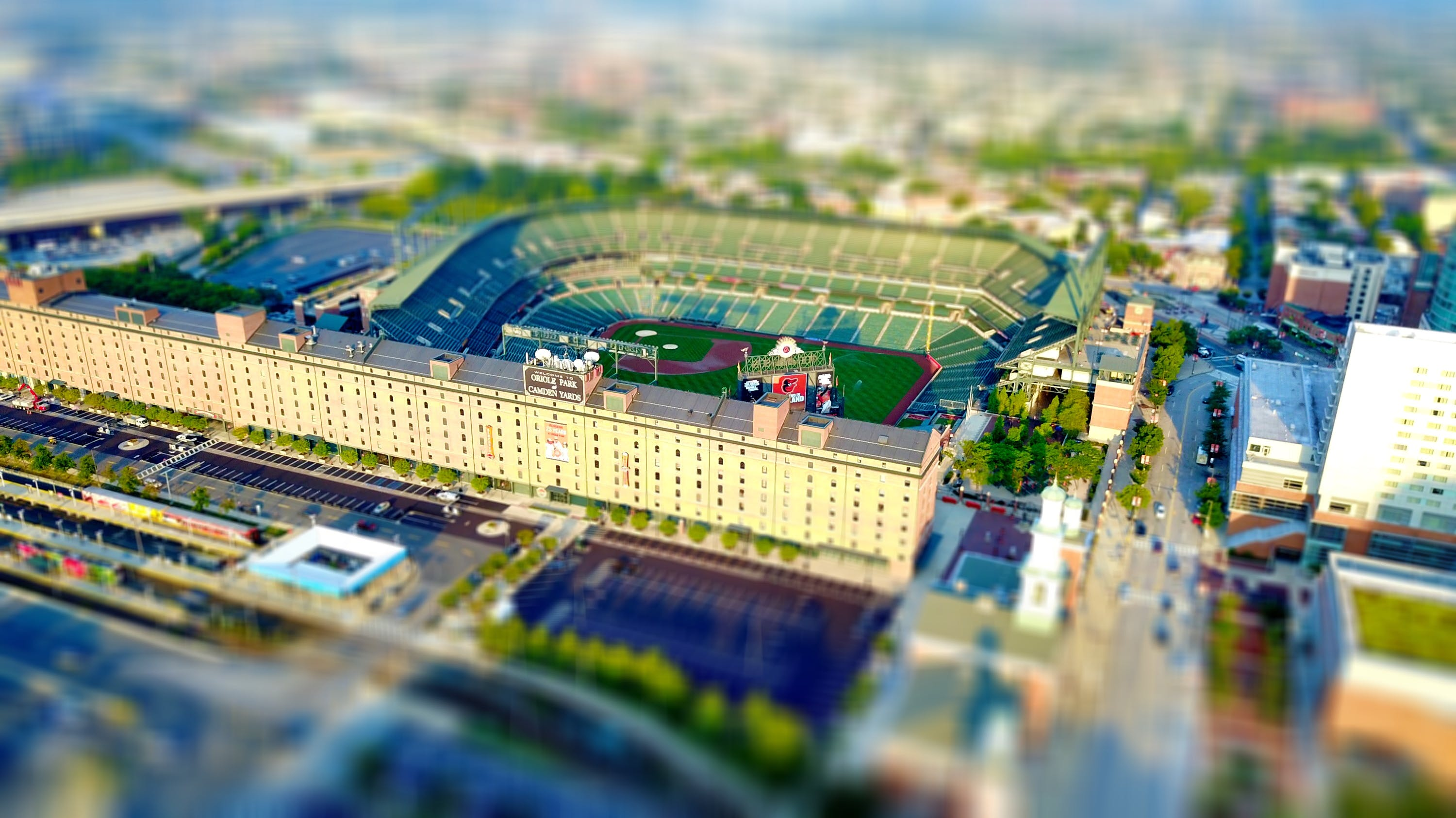 Bird's Eye View Photography of Stadium