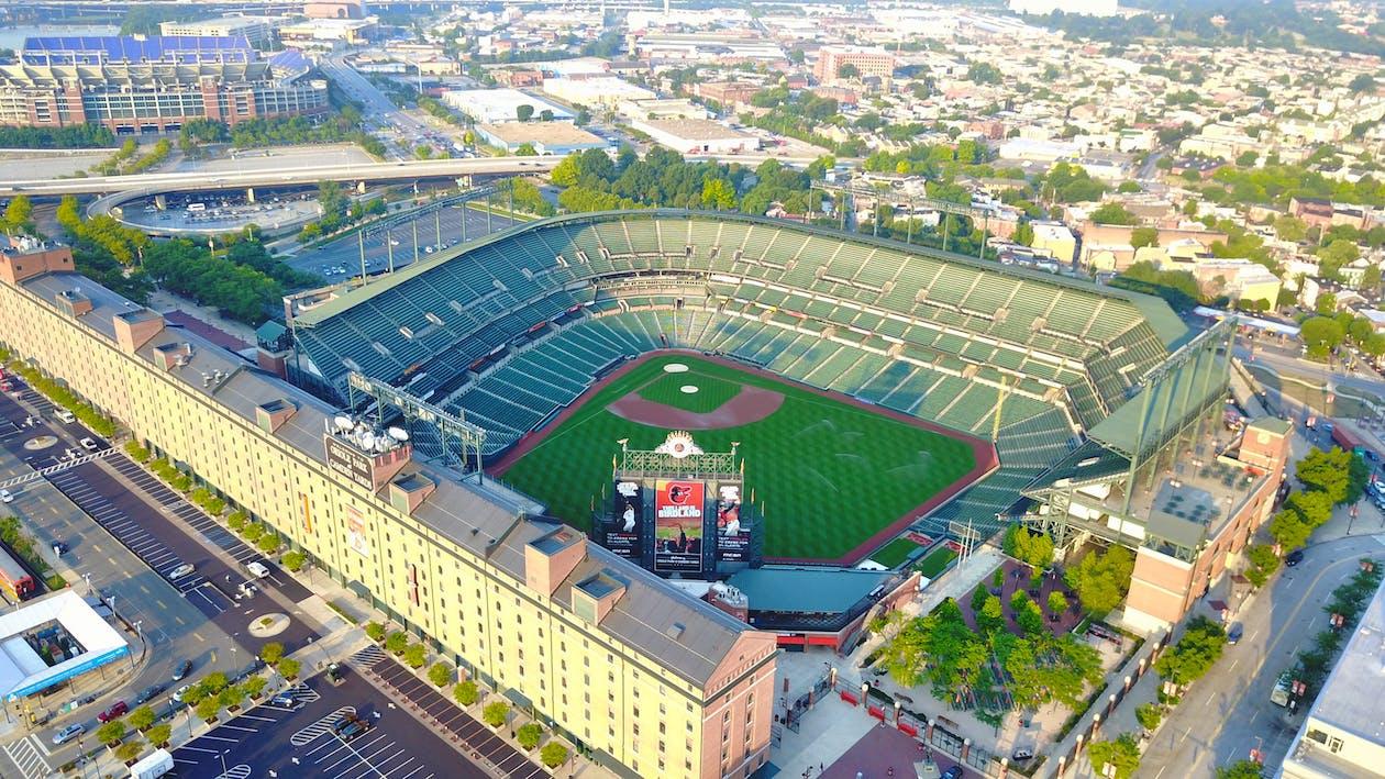Birds Eye Photography of Baseball Stadium