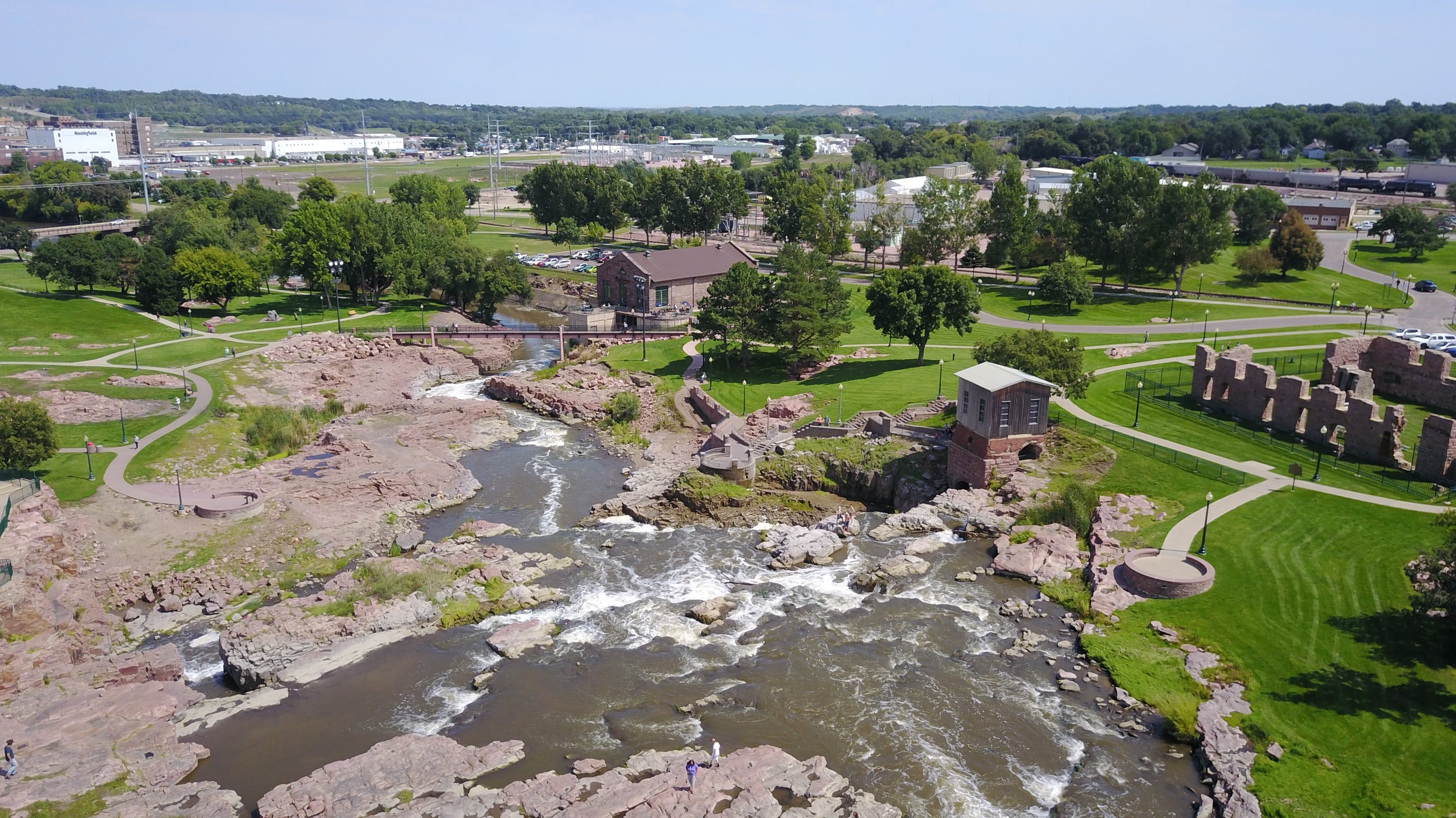 Free stock photo of waterfall, nature park, aerial view, aerial shot