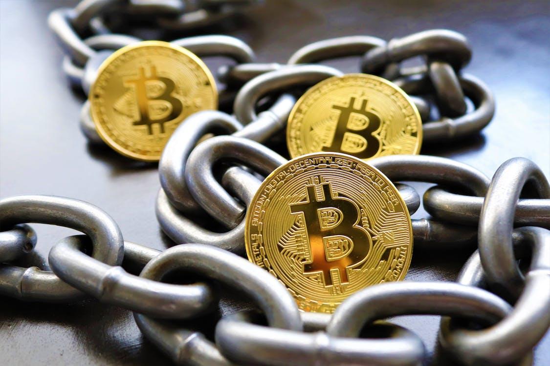 Close Up of Bitcoins