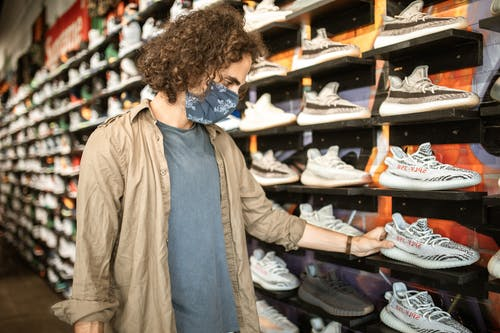 A Man Shopping for Adidas Yeezy Boost