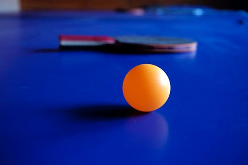 Orange Ping Pong Ball