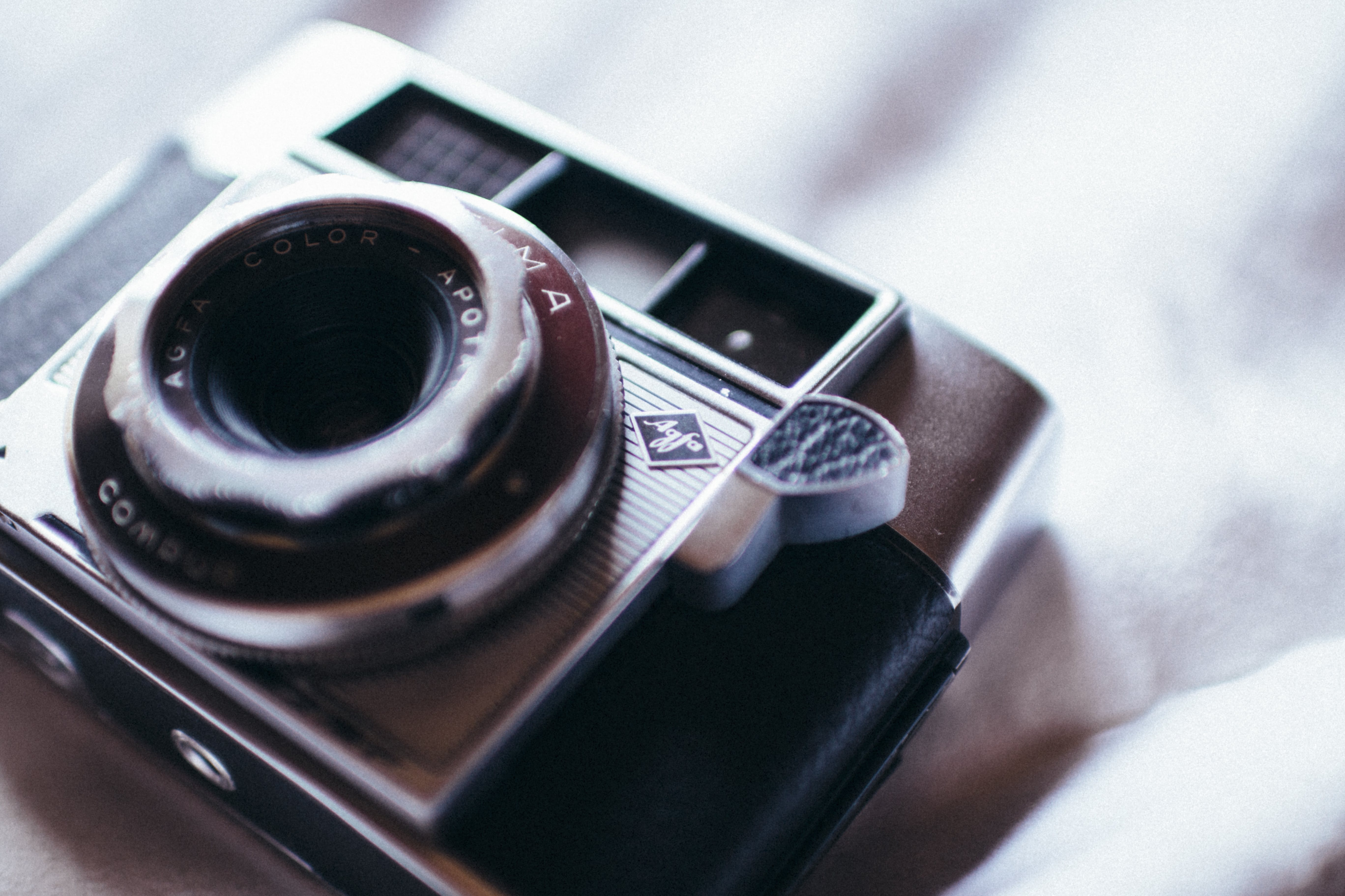 Free stock photo of camera, vintage, white, hipster
