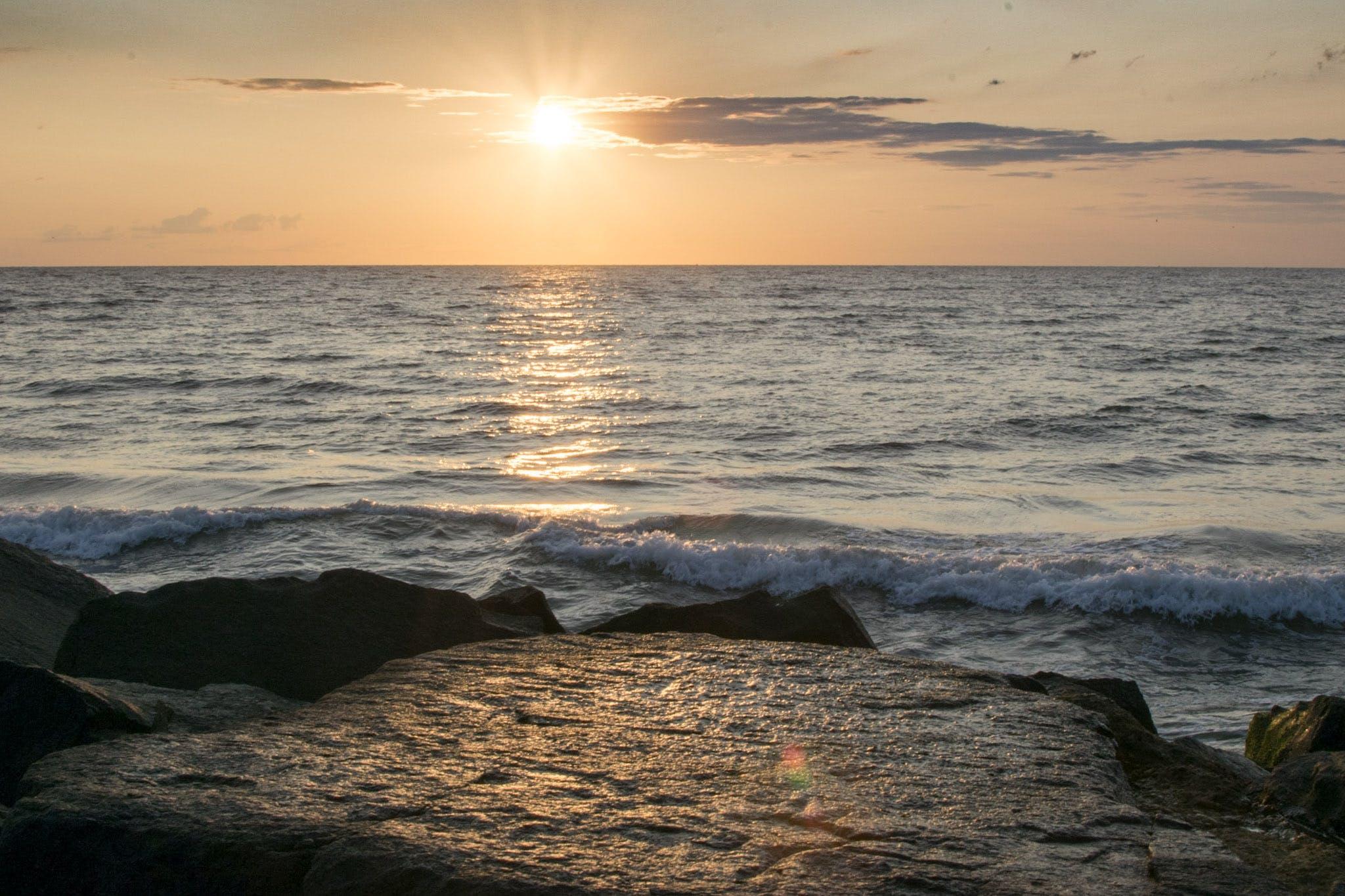 Free stock photo of beach, ocean, shore, sunrise