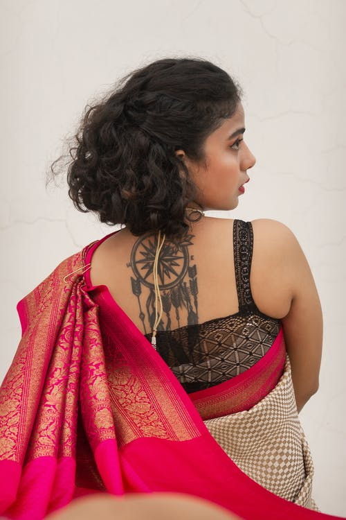 Free stock photo of back tattoo, beautiful, female, indian