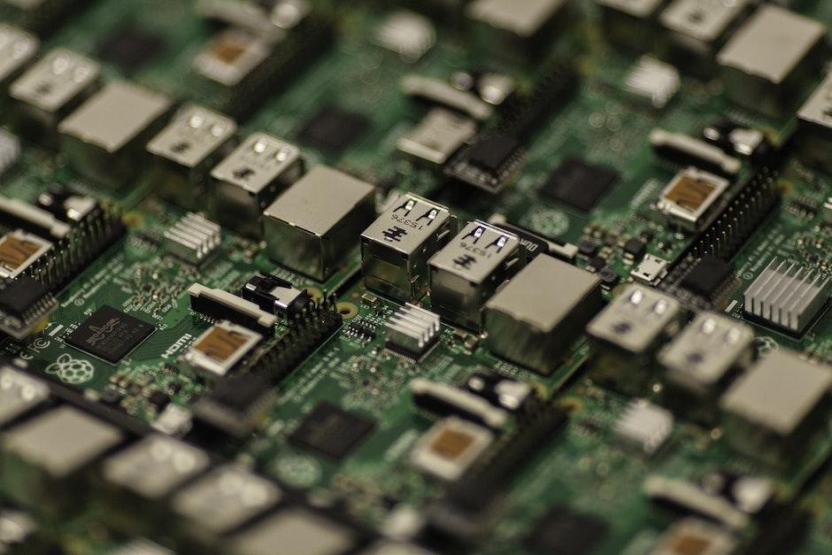 capacitors, chip, circuit board