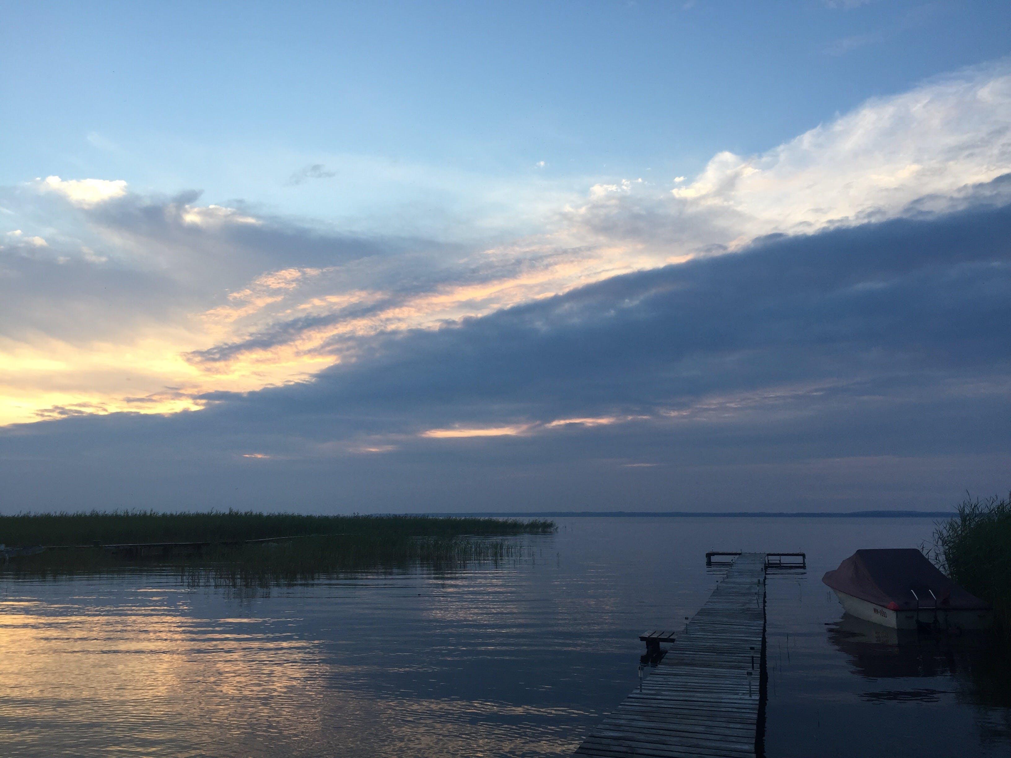 Free stock photo of empty, evening sky, lake, sunset