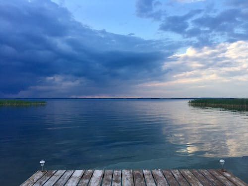 Free stock photo of calm water, empty, evening sky, peace