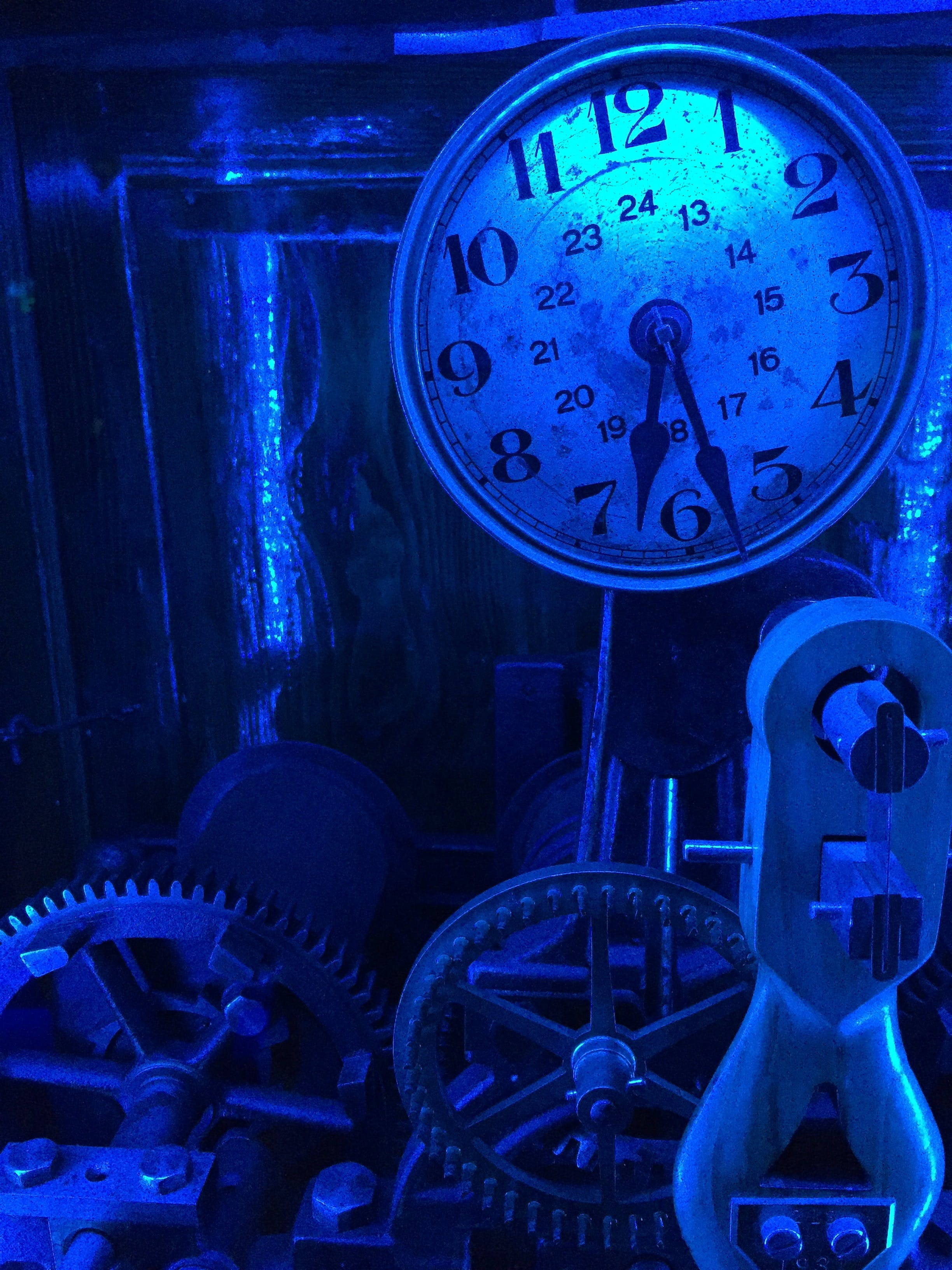 Free stock photo of blue, clock, old, time