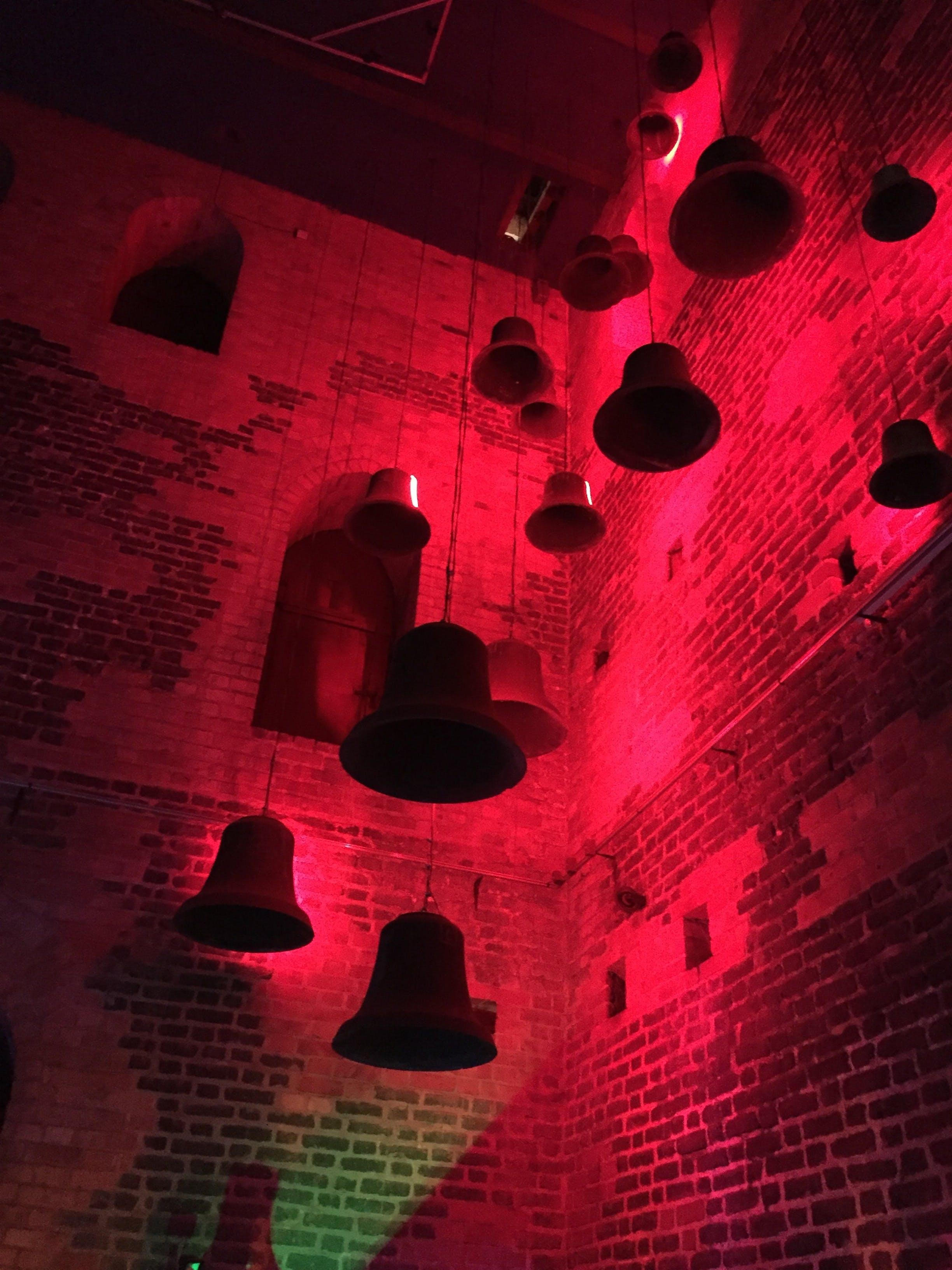 Free stock photo of bells, church tower, red ligh