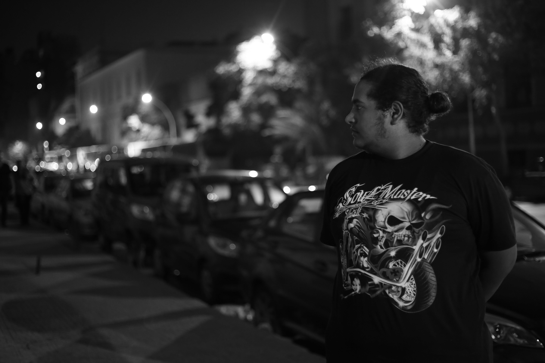 adult, blur, cars