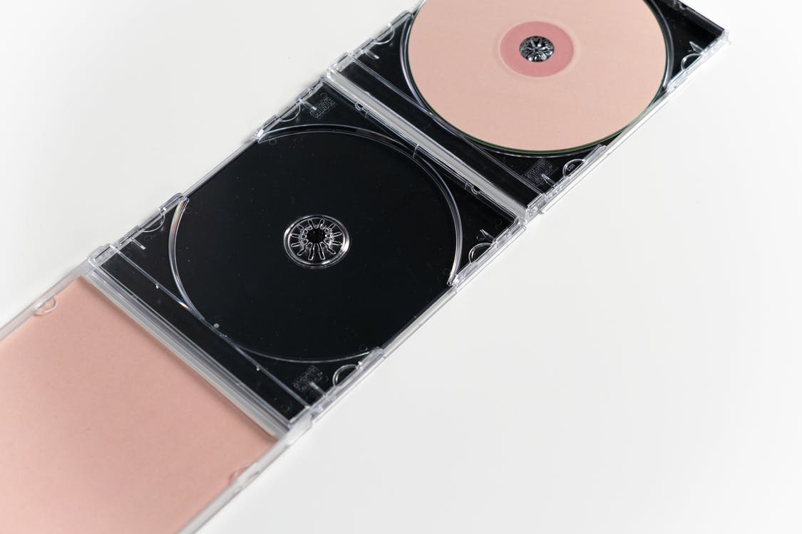 Black and Red Compact Disc