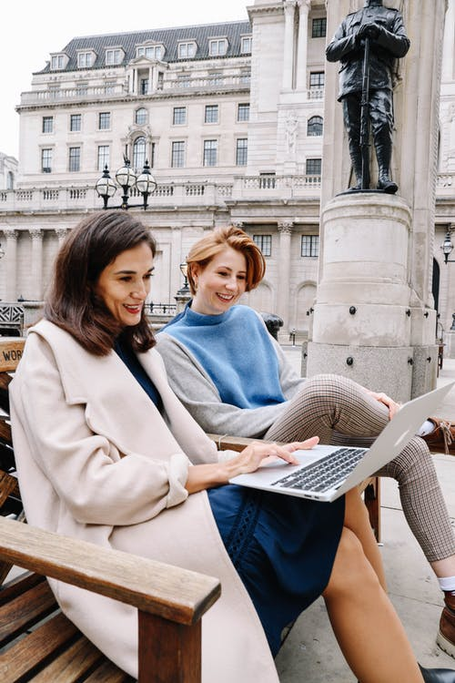 Free stock photo of friends, laptop, working at a computer