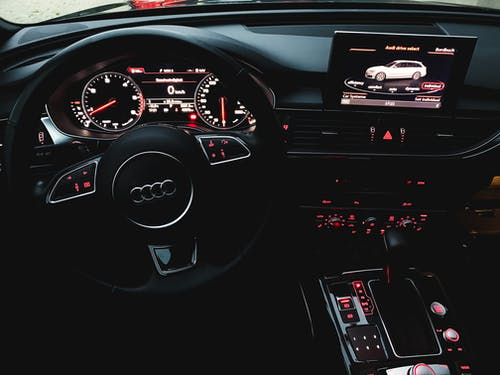Black And Red Car Dashboard