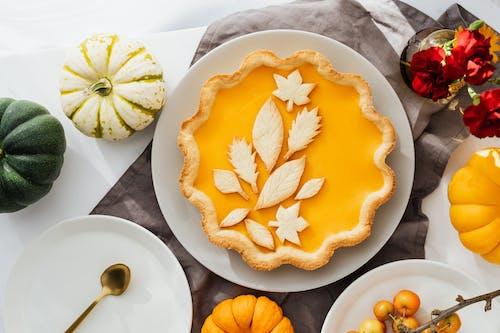 Appetizing Pumpkin PIe on Ceramic Plate
