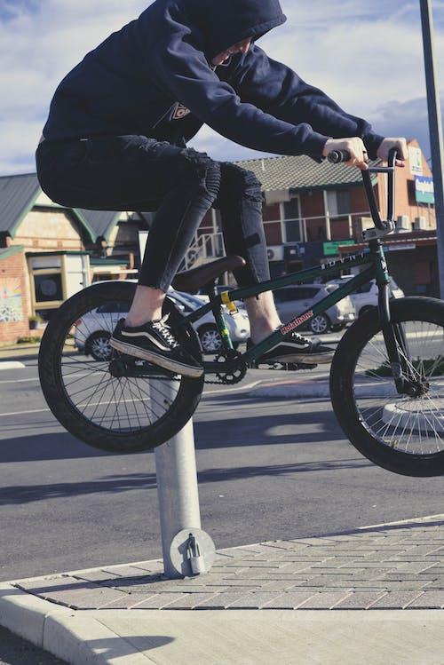 Free stock photo of bicycle, bike, blue tones, bmx