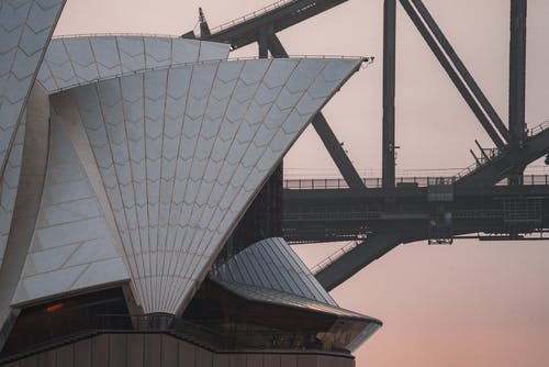 Exterior of Sydney Opera House under evening sky