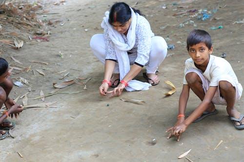 Free stock photo of rural life, village children, village girl